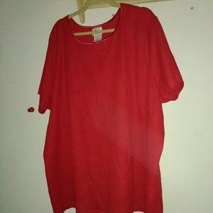* Red tee shirt*